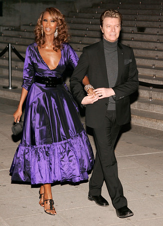 26 April 2006 - New York, NY - Iman and David Bowie at 5th Annual Tribeca Film Festival - Vanity Fair Party - Arrivals.  Photo Credit Jackson Lee/Admedia
