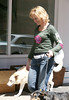 EXCLUSIVE 29 April 2006 - New York, NY - Edie Falco walking her dogs in Tribeca.  Photo Credit Jackson Lee/Jennifer Mitchell