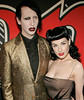 4 May 2006 - New York, NY -  Marilyn Manson and Dita Von Teese at Rolling Stone magazine's 1000th cover celebration at the Hammerstein Ballroom.  Photo Credit Jackson Lee