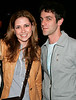 13 May 2006 - New York, NY -  Jenna Fischer and B.J. Novak of 'The Office' depart hotel.  Photo Credit Jackson Lee