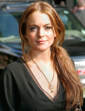 5 June 2006 - New York, NY - Lindsay Lohan departs 'The Late Show with David Letterman' at the Ed Sullivan Theatre.  Photo Credit Jackson Lee