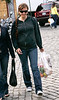 6 June 2006 - New York, NY - Maggie Gyllenhaal walking with a bag of groceries in hand in NYC.  Photo Credit Jackson Lee <br /> SEMI-EXCLUSIVE