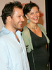 28 June 2006 - New York, NY - Peter Saarsgard and Maggie Gyllenhaal at the Vonage 'V Phone' Launch Party at Aer.  Photo Credit Jackson Lee