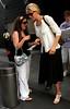 10 July 2006 - New York, NY - Uma Thurman departs the Mandarin Oriental Hotel.  Photo Credit Jackson Lee
