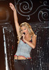 """19 July 2006 - New York, NY - Ashlee Simpson performs at """"The World's Largest Pajama Party"""" Presented by Victoria's Secret Pink - Performance.  Photo Credit Jackson Lee"""