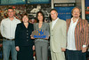 1 August 2006 - New York, NY - Olivia Harrison acccepts first ever event plaque for MSG's 'Walk of Fame', in Honor of her late husband's Bangladash concert.  Photo Credit Jackson Lee
