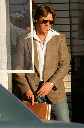 9 Aug 2006 - New York, NY - Russell Crowe on the set of 'American Gangster' in Harlem, NYC.  Photo Credit Jackson Lee