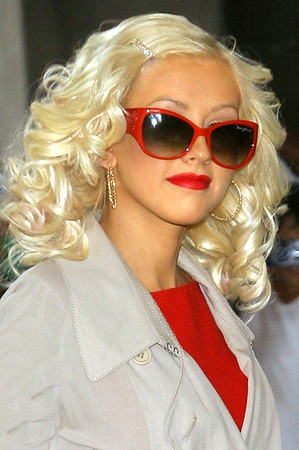15 Aug 2006 - New York, NY - Christina Aguilera arrives at MTV TRL Studios in Times Square, NYC.  Photo Credit Jackson Lee