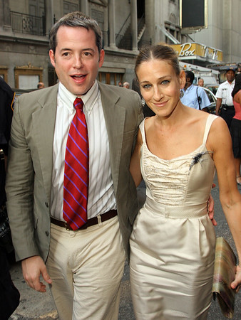 17 Aug 2006 - New York, NY - Matthew Broderick and Sarah Jessica Parker out in about in the theatre district in NYC.  Photo Credit Jackson Lee