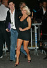 31 Aug 2006 - New York, NY - Jessica Simpson is all smiles as she walks across the street to greets fans after departing the 2006 VMAs.   Photo Credit Jackson Lee