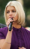 4 Sept Aug 2006 - New York, NY - Jessica Simpson performs live on the CBS Morning Show at the Plaza of the GM Building despite continuing problems with her larynx.   Photo Credit Jackson Lee
