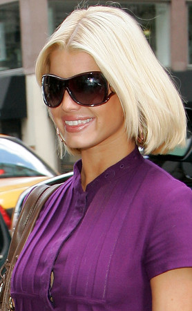 4 Sept 2006 - New York, NY - Jessica Simpson out and about after performing on the CBS morning show.  Photo Credit Jackson Lee