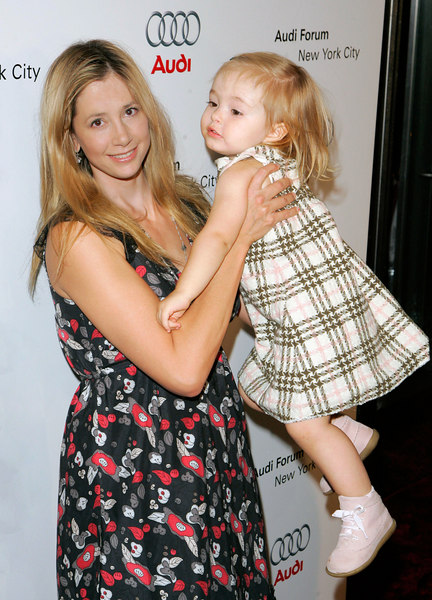11 Oct 2006 - New York, NY - Mira Sorvino and daughter at event to debut the new R8 sports car and the grand opening New York City Audi Forum.  Photo Credit Jackson Lee/Splash