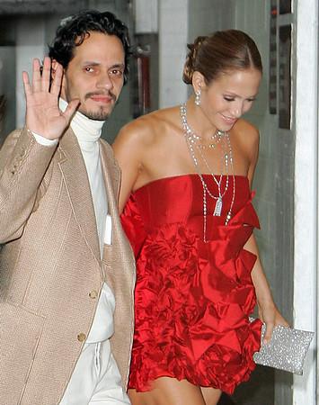 1 Nov 2006 - New York, NY - Marc Anthony and Jennifer Lopez outside the Sheraton hotel in Manhattan.  Photo Credit Jackson Lee