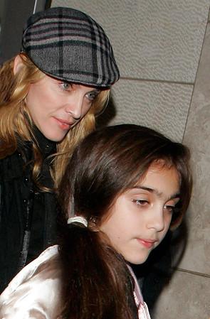 3 Nov 2006 - New York, NY.  Madonna and Lourdes depart Kaballah Center.  Photo Credit Jackson Lee