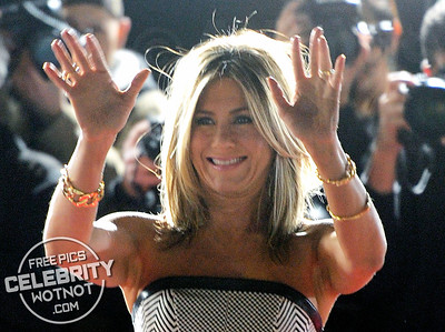 Jennifer Aniston Wears Stunning Striped Dress For Premiere in Los Angeles