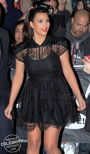 Kim Kardashian In High-Waisted LBD In Los Angeles