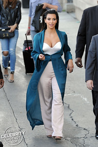 Kim Kardashian In Plunging White Top in Hollywood!