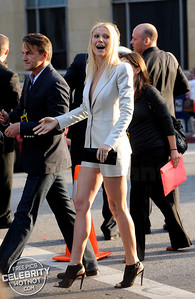 Gwyneth Paltrow Dazzles In Armani Short Suit, LA
