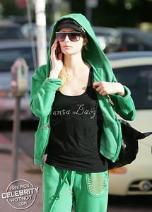 EXC: Santa Baby! Paris Hilton Goes Trashy For Christmas, Los Angeles