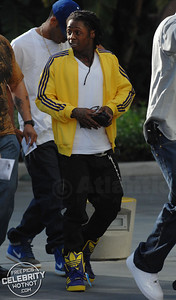 Lil Wayne arrives at the LA Lakers For Game 1 Of The NBA Finals