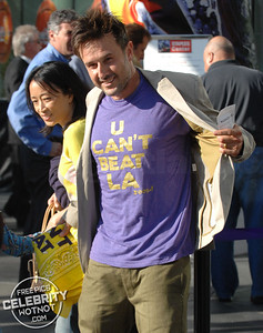 David Arquette arrives at the LA Lakers For Game 1 Of The NBA Finals