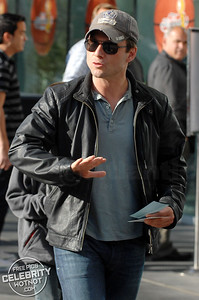 Christian Slater arrives at the LA Lakers For Game 1 Of The NBA Finals
