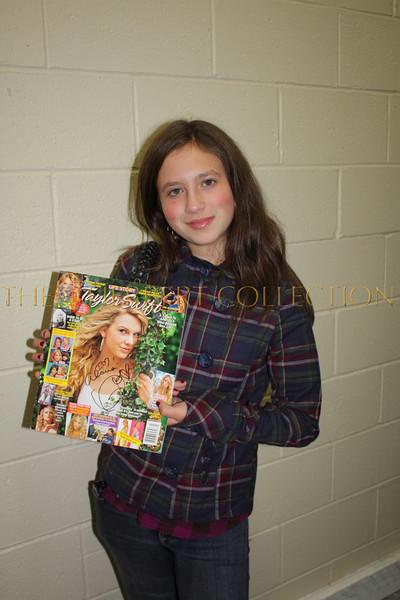 Alana Morgan Galloway with Taylor Swift autograph