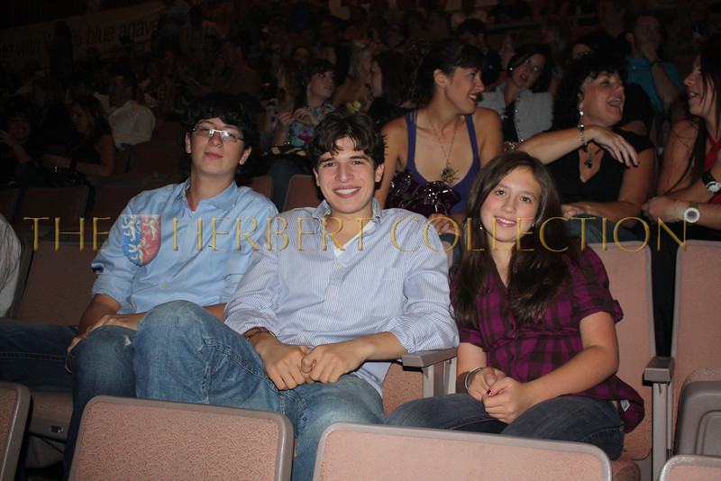 Jake, Justin Galloway and Alana Galloway attend Justin Timberlake and Friends Benefit Concert