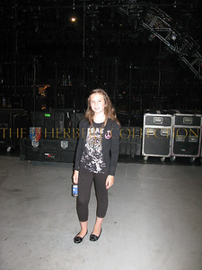 Alana Galloway backstage of concert