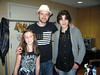 Alana Galloway, Justin Timberlake, Justin Galloway backstage in dressing room after the show
