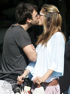 EXCLUSIVE: Alessandra Ambrosio Gets A Kiss From Jamie Mazur On Santa Monica Boardwalk, LA