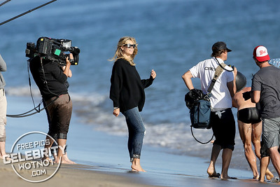 """Heidi Klum Wraps Up And Directs A """"Wet and Wild"""" Photoshoot For Germany's Next Top Model in Malibu, CA"""