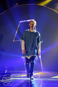 Justin Bieber Rocks In Marques'Almeida Frayed Denim Shirt, London