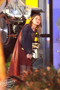 Supergirl Looks Overjoyed To Be Back Filming In National City!