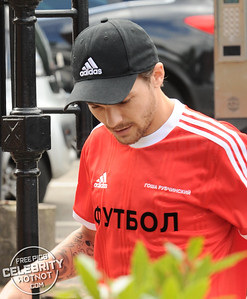 Louis Tomlinson In Russian Gosha Rubchinskiy Adidas X Football Shirt