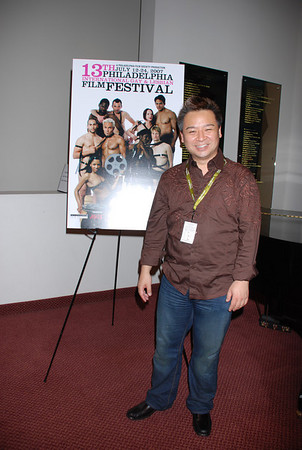 Rex Lee from Entourage arriving for the Philly premiere of Rupaul's new movie Starbooty at the Phila GLBT Film Festival. He's in town to do a stage reading for Another Gay Movie: The Sequel  (shot 3)