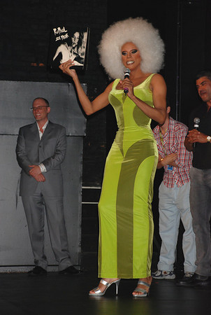 "RuPaul at the 13th Annual Philadelphia GLBT Film Festival to promote her new movie ""Starbooty"" She holds in her hand her first album, which a fan brought for her to sign.<br /> (photo 2)"