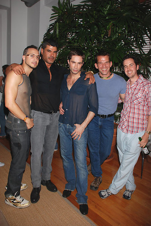 Starbooty actors L - R:  Ari Gold, Director Mike Ruiz, Michael Lucas, Gus Mattox, and producer Spencer Schilly