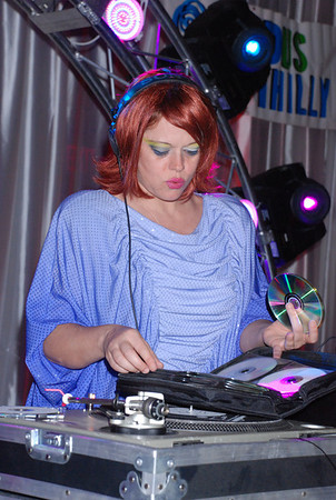 Lady Kier spins at the opening party at the 13th Annual Philadelphia GLBT Film Festival
