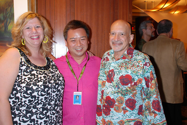 Director of the GLBT Philadelphia Film Festival, Rosemary Connors and Director of Development, Thom Cardwell flank Rex Lee from the HBO TV shown, Entourage.  Rex is in town to do a stage reading of Another Gay Movie: The Sequel