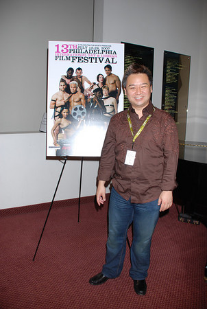 Rex Lee from Entourage arriving to see RuPaul's new movie Starbooty at  the Phila GLBT Film Festival.  He's in town to do a stage reading for Another Gay Movie: The Sequel (shot 1 Brown Shirt)