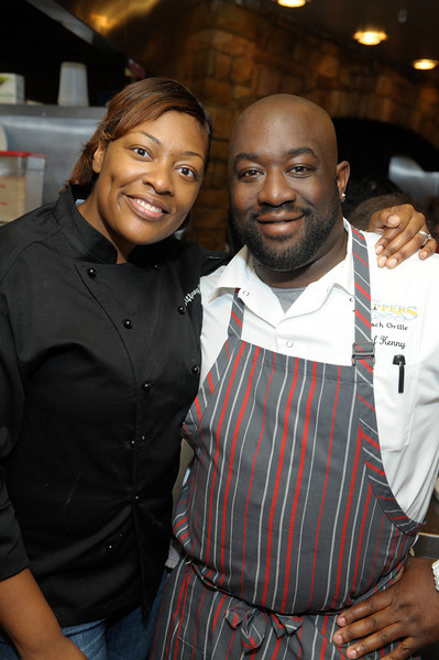 Former Top Chef contestants Tiffany Derry and Kenny Gilbert