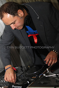 Crystal Method's, Ken Jordan, DJ's a Sea Shepherd fund raiser in Los Angeles. © Erin Suggett Photography.  All Rights Reserved.