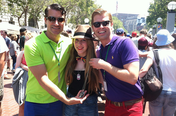 "Bravo's - Jeff Pedersen and Blair Late - ""Newlyweds"" With Makena Max (Kate Mesta Crew) - San Francisco Pride - 2013"