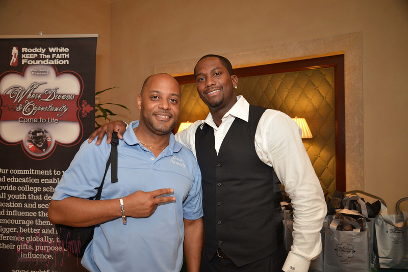 Myself with Atl Falcons wide out, Harry Douglas