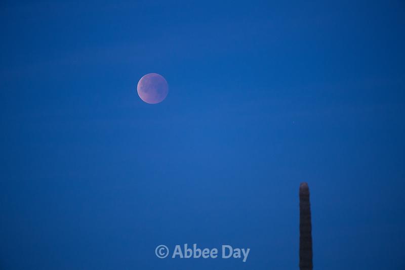 Blood Moon at Sunrise