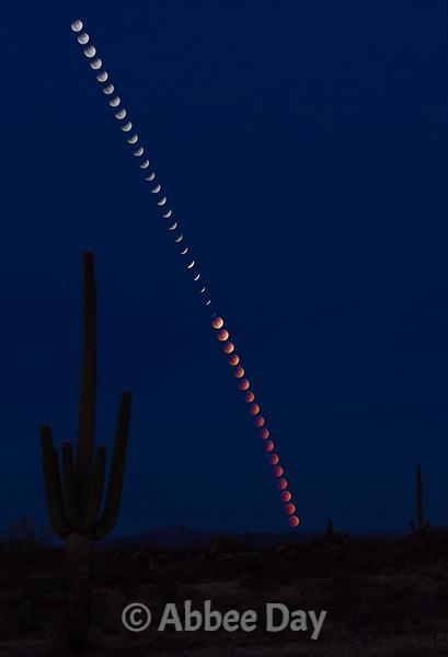 Photoshopped Eclipsing Moon