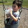 very hot day - water break at the park