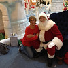 Nanny letting Santa know how good Emma and Nate have been